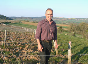 Michelin three-star chef Marc Meneau in his vineyards near Vezelay