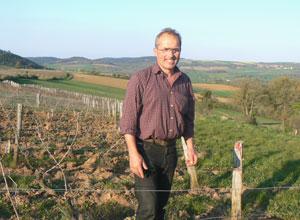 Michelin three-star chef Marc Meneau in his vineyards near Vezelay