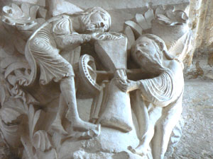 Wall detail from the Basilica Sainte-Madeleine in Vezelay