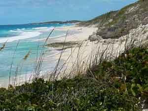A beach on Stocking Island