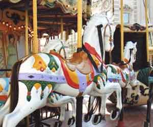 A carousel horse in Montpellier