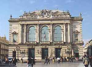 The opera house in Montpellier