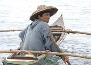 A boatman in Bohol