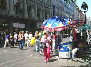 A kiosk downtown