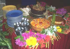 The tantalizing desserts at the Frangipani's Thursday Night Jump Up