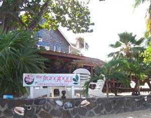 The Frangipani Hotel, along the shore's of Admiralty Bay.