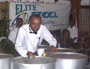Steel drums entertain at the Frangipani's Thursday Night Jump Up.