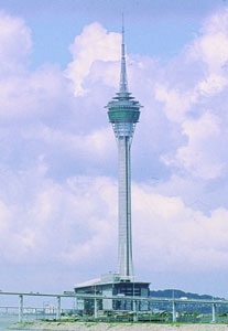 Dr Ho's Macau Tower, one of the ten tallest freestanding buildings in the world and a major adventure tourism destination because of its SkyWalk