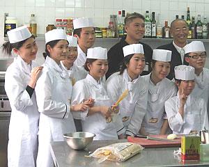 Chefs await their orders in Macau, near Hong Kong. Richard Frisbie photos.
