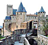 The walled city of Carcassonne in southern France