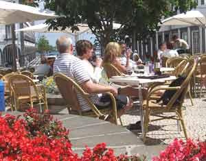 A café near the waterfront in Ponta Delgada.