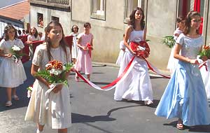 One of the many Espirito Santo (Holy Spirit) festivals held in villages in the weeks following Easter.