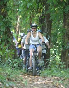 Mountain biking at Iguana Mamma