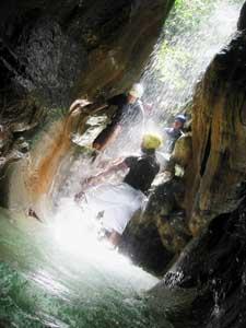Cascading in the rainforest - photo courtesy of Iguana Mama