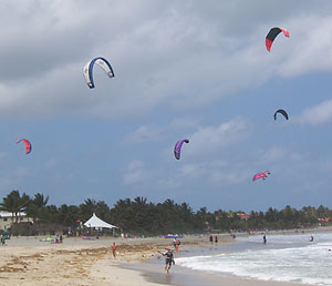 Kiteboarding is the main event on Cabarete's beaches.