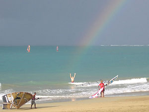 The end of the rainbow - photo courtesy of Laurel Eastman Kiteboarding