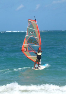 Windsurfing is popular, too.