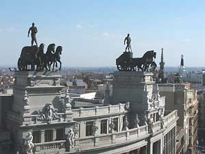 The Guardians of the Sun above the Puerta del Sol in Madrid - photos by Chance St. John