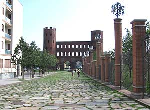 6 Roman Wall - Northern Gate of Torino