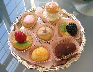 Bite-sized treats at Palazzo Madama café