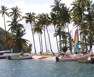 Coconut Bay in St. Lucia - photos by Kent E. St. John