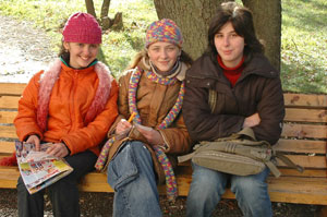 Three Georgian girls