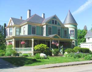 The historic Limerock Inn, once home to one of the city's limestone millionaires