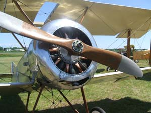 A WWI Sopwith biplane at the Owl's Head Transportation Museum