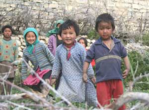Kids at Lhalung - photo by Dilip