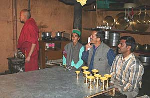 A tea party at the Kee Monastery