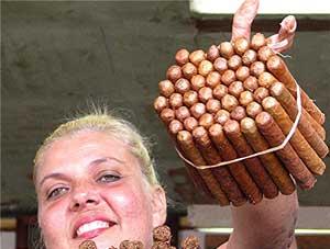 The cigar lady