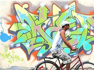 Biking in Havana