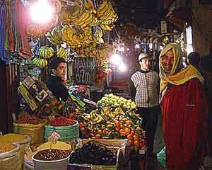 A souk or market