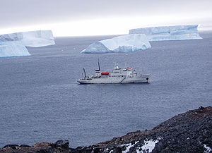 Quark expeditions leases Russian icebreakers.