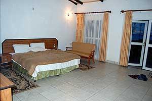A room at Gorilla Nest Lodge