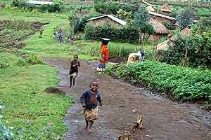 A village outside Virunga Park