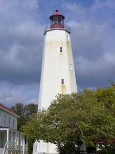 The Sandy Hook Lighthouse is the oldest in the country.