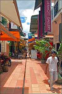 A side street in Siem Reap's French Quarter