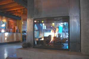 The lobby at the Cedar House