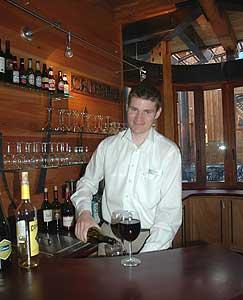 The bar at the Cedar House