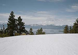 The view from Diamond Peak