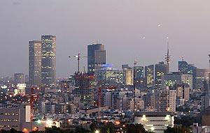 The Tel Aviv skyline