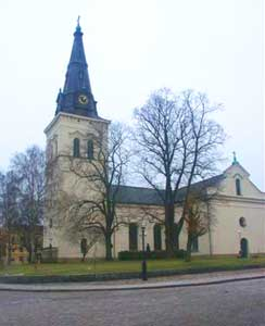 Karlstad Cathedral dominates the city skyline.