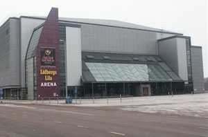 Löfbergs Lila Arena, home of Färjestad Ice Hockey Club and the venue for many top class concerts