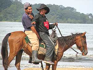 Cowboys on Boca Beach, Panama