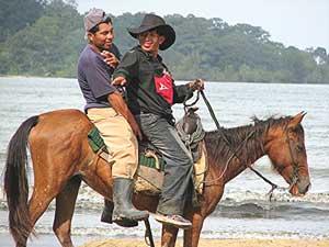 Cowboys on Boca Beach, Panama