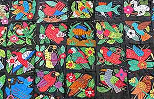 Handcrafted molas in Panama