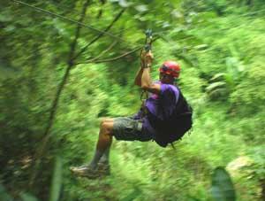 Ziplining with Acampa Adventures
