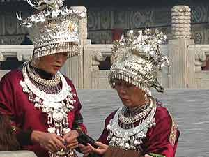 Colorful characters at the Forbidden City