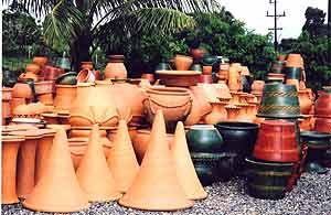 A pottery factory in Santiago, Dominican Republic